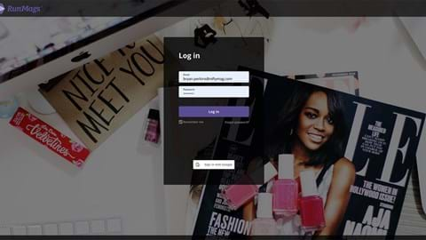 New login page design